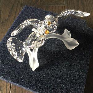 Swarovski crystal turtledove love birds